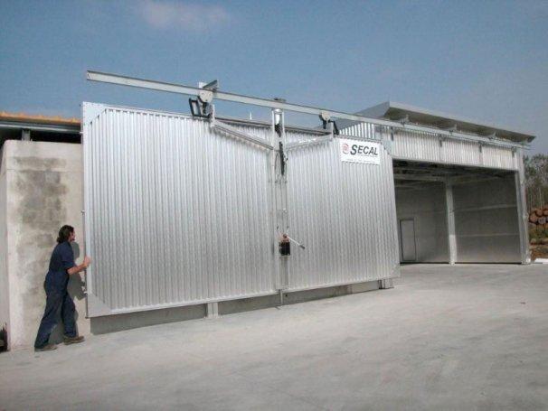 Ворота сушильной камеры для древесины Secal