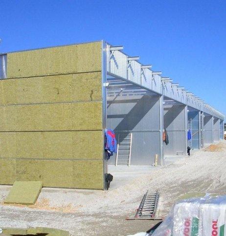 Несущая конструкция и стеновые панели камер для сушки древесины Secal